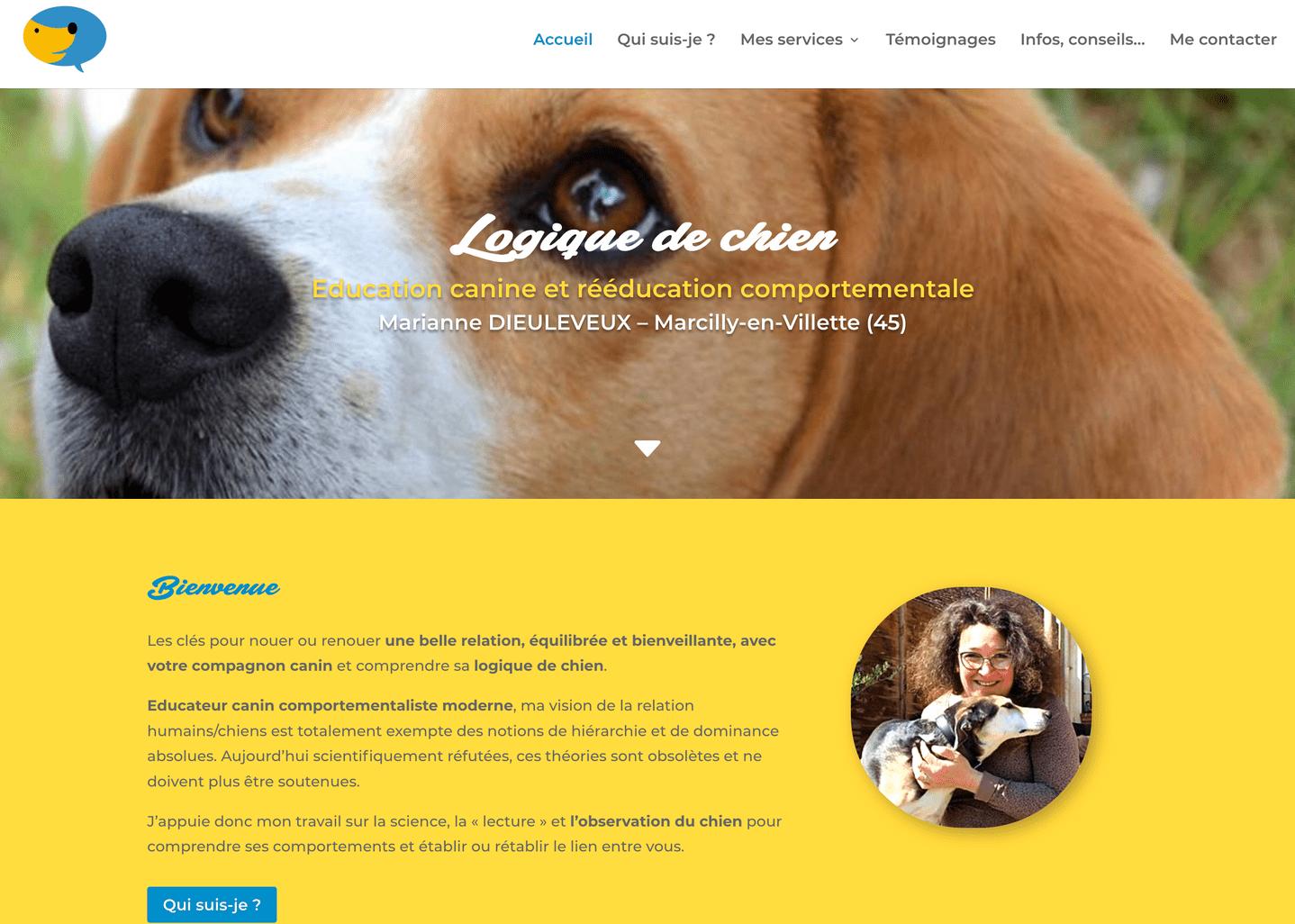 site éducatrice canin
